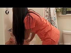 Slutty Latina nurse tricks her patient with a m...