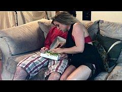 Horny MILF slurps a big dick salad - Erin Electra