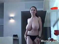 Merilyn Sakova topless while walking around her apartment