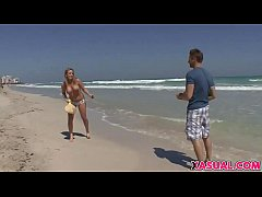 Busty Blonde Leslie Foxx Gets Fucked And Gets F...