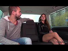Takevan Endless party for young petite party girl with big ass fucked in van