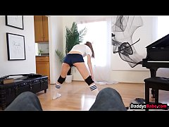 Young daughter seduces her horny dad