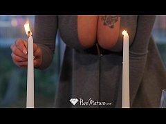 PureMature - Hot milf Peta Jensen candle lit di...