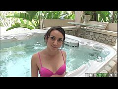 Hot Young Amateur Sucks and Fucks In The Jacuzzi