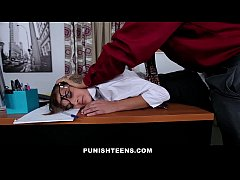 PunishTeens - Hot Secretary Punished in the Office