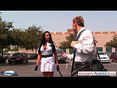 Busty brunette Audrey Bitony fucking a large dick