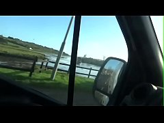 Real Public Flashing Blowjob and Facial on Irelands busy Roads