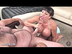 Pornstar Ava Devine masturbates then sucks a big cock