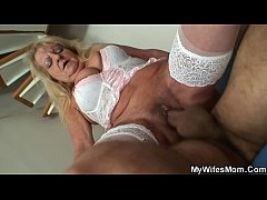 Hairy blonde mother inlaw