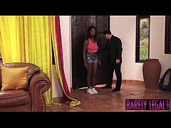 Black teen Daya Knight eats married man cum aft...