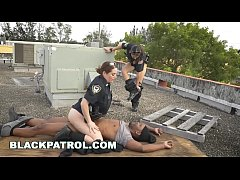 BLACK PATROL - Black Thug Burglar Fucks MILF Police Women For Freedom