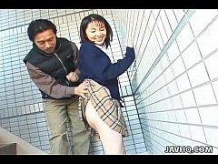 Schoolgirl Seire Mochizuki gets kinky on the st...