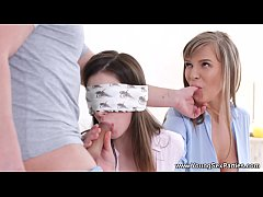 Young Sex Parties - Threeway and blindfold prel...
