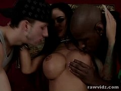 Angelina Valentine Hot Interracial Threesome