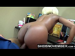 Amateur Ebony Msnovember Fucking Boss On Desk A...