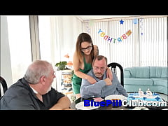 Cute Teen Slut Fucks Old Man For His Birthday S...