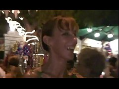 Boozed nude housewives in the streets of New Or...