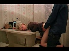 Sexy Russian Slut in Fishnet Fucked By her Neig...