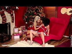 Misletoe Merriment sensual lesbian scene by SapphiX