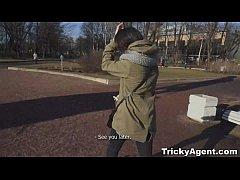 Tricky Agent - Shy cutie Izi Ashley fucks like ...