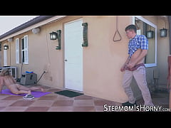 MILF beauty Cory Chase has fun with stepsons ne...