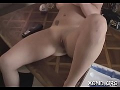 Nude girl sucks knob in heavy modes before swal...