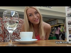 Nice teenie gives blowjob in pov and gets pink ...
