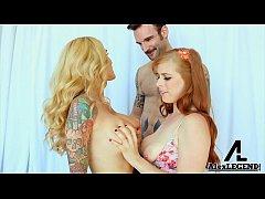 Hottest Threesome! Busty Hot MILF Sarah Jessie ...