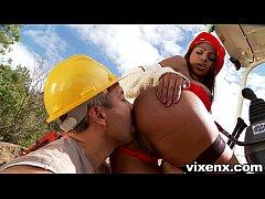 vixenx Sexy Latina Katia construction site anal...