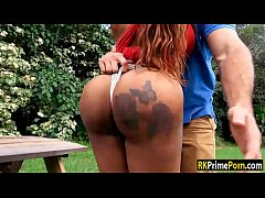 Curvy ebony Moriah Mills gets wrecked