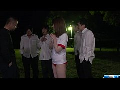 Kaho lets horny men to fuck her tight pussy and ass