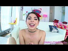 SWALLOWED Throat fucking Gina Valentina