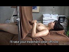 Subtitled CFNF ENF Japanese lesbian massage cli...