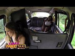 Female Fake Taxi Busty ebony stripper wants her...