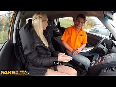 Fake Driving School Blonde learner Amaris and h...