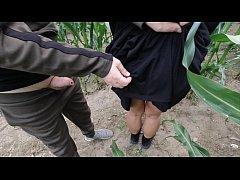 risky public nature fuck in a cornfield - proje...