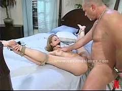 Sex slave bound and immobilized spanking and pu...