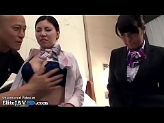 Japanese hostess threesome in hotel - Full at E...