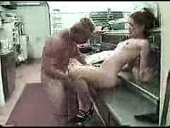 Cute waitress getting pounded