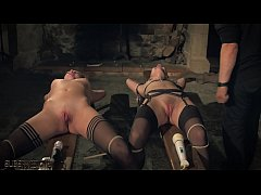 Kinky sex game and bondage sex for two slaves r...
