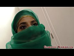 Arab babe sucks black rod