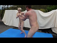 Mixed Kickboxing Ending With Loser Orally Pleas...