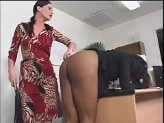 Dirty black slut Caren Caan is punished by her ...