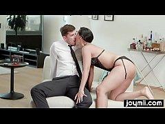 Dadddy´s little bad girl makes big cock cum