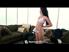 4K MyVeryFirstTime - Newbie Miley Austin wants to get fucked by black cock