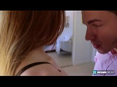 High School Redhead Teen With Small Tits Gets F...