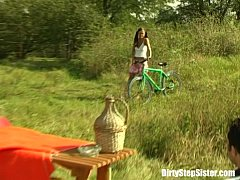 thumb outdoor bicycle  picnic fuck with stepsister t th stepsister th stepsister