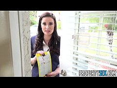 PropertySex - Busty real estate agent works har...