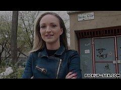 Hot amateur blonde Czech girl Melanie drilled f...