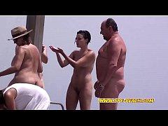 Voyeur Beach Amateur Nudist Close-Up Milfs Show...